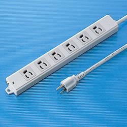サンワサプライ TAP-KE6-3 工事物件タップ(6個口・3m)