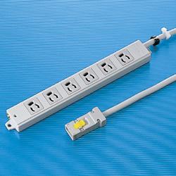 サンワサプライ TAP-KH6-3 工事物件タップ(6個口・3m)