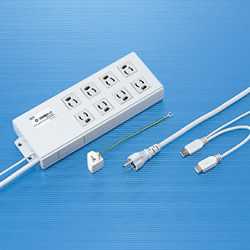 サンワサプライ TAP-RE2UN USB連動タップ