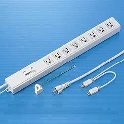 サンワサプライ TAP-RE4UN USB連動タップ