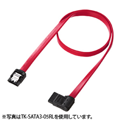 サンワサプライ TK-SATA3-03RL 右L型シリアルATA3ケーブル