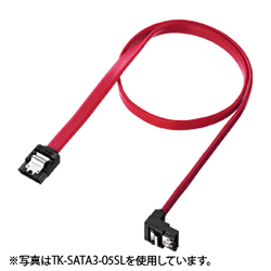 サンワサプライ TK-SATA3-07SL 下L型シリアルATA3ケーブル