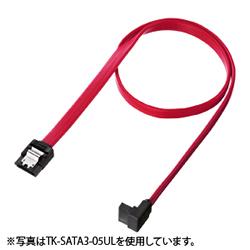 サンワサプライ TK-SATA3-07UL 上L型シリアルATA3ケーブル