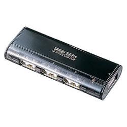 サンワサプライ USB-HUB225GBK USB2.0ハブ(4ポート・ブラック)