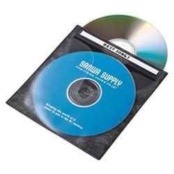 サンワサプライ FCD-FN100BKN DVD・CD不織布ケース(ブラック)