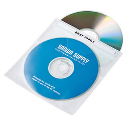 サンワサプライ FCD-FN50WN DVD・CD不織布ケース(ホワイト)