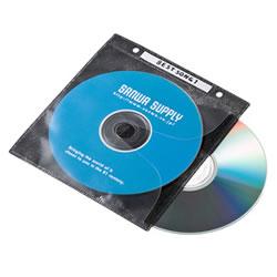 サンワサプライ FCD-FR100BKN DVD・CD不織布ケース(ブラック)