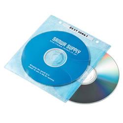 サンワサプライ FCD-FR100MXN DVD・CD不織布ケース(5色ミックス)