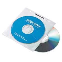 サンワサプライ FCD-FR100WN DVD・CD不織布ケース(ホワイト)