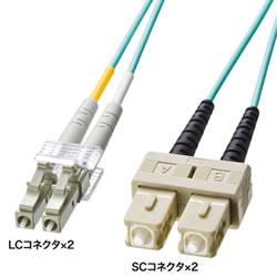 サンワサプライ HKB-OM3LCSC-10L OM3光ファイバケーブル
