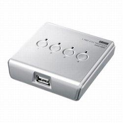 サンワサプライ SW-US24N USB2.0手動切替器(4回路)