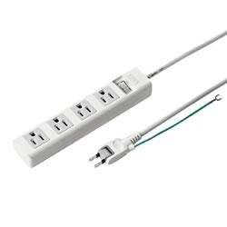 サンワサプライ TAP-N3450SWN 電源タップ