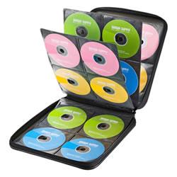 サンワサプライ FCD-WL160BK DVD・CDセミハードケース(160枚収納・ブラック)