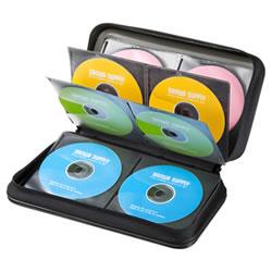 サンワサプライ FCD-WL96BK DVD・CDセミハードケース(96枚収納・ブラック)