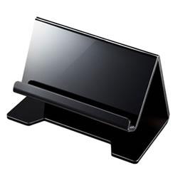 サンワサプライ PDA-STN13BK タブレット・スマートフォン用デスクトップスタンド(ブラック)