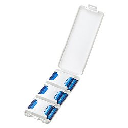 サンワサプライ FC-MMC23SDW SDカードケース(6枚収納・ホワイト)