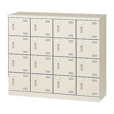 16人用シューズボックス 扉付・鍵なし(4列4段) 網棚なし