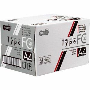 AEFC80-A4 αエコペーパー タイプFC A4 標準 80G 1セット2000枚 汎用品