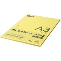 AECYEA3-PK αエコカラーペーパーII A3 イエロー 少枚数パック 汎用品