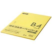 AECYEB4-PK αエコカラーペーパーII B4 イエロー 少枚数パック 汎用品
