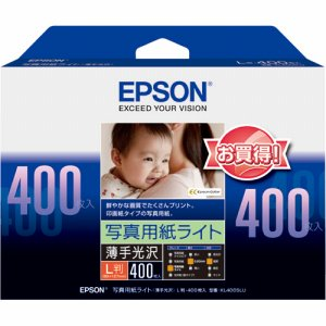 EPSON KL400SLU 写真用紙ライト<薄手光沢> L判