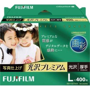 FUJIFILM WPL400PRM 画彩 写真仕上げ 光沢プレミアム 厚手 L判