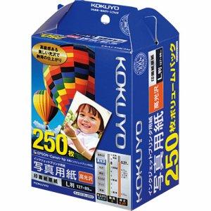 コクヨ KJ-D12L-250N インクジェットプリンタ用紙 写真用紙 印画紙原紙 高光沢 L判