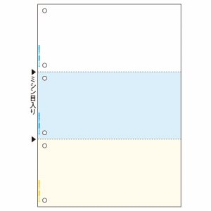 FSCT2080S マルチプリンタ帳票 FSC森林認証紙 A4カラー 3面6穴 汎用品