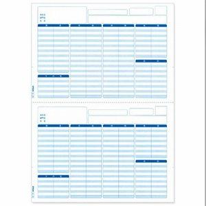 EPSON Q33A 支給明細書(専用紙) A4 (2分割ミシン目入り)