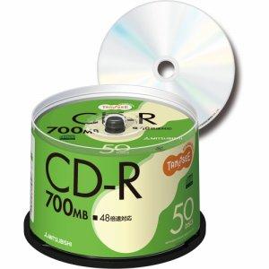 三菱ケミカル SR80FC50T データ用CD-R 700MB 48倍速 ブランドシルバー スピンドルケース