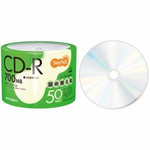 三菱ケミカル SR80FC50TT データ用CD-R 700MB 48倍速 ブランドシルバー 詰め替え用
