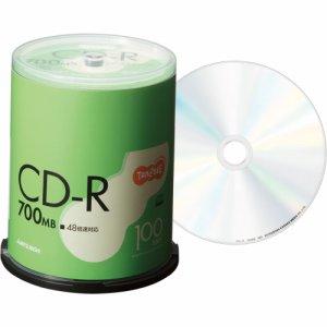 三菱ケミカル SR80FC100T データ用CD-R 700MB 48倍速 ブランドシルバー スピンドルケース