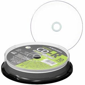 三菱ケミカル PR80FP10SD1 データ用CD-R 700MB 48倍速 ホワイトワイドプリンタブル スピンドルケース