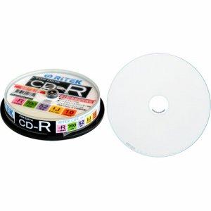 RiTEK CD-R700EXWP.10RT C データ用CD-R 700MB 1-52倍速 ホワイトワイドプリンタブル スピンドルケース