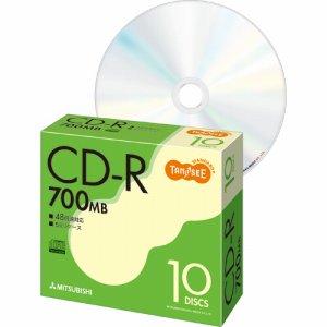 三菱ケミカル SR80FC10T データ用CD-R 700MB 48倍速 ブランドシルバー 5mmスリムケース