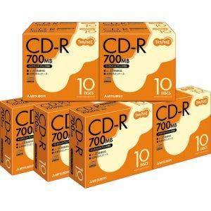 三菱ケミカル SR80FP10T データ用CD-R 700MB 48倍速 ホワイトプリンタブル 5mmスリムケース