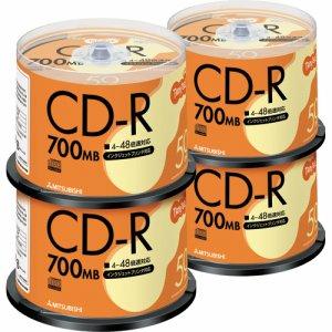 三菱ケミカル SR80FP50T データ用CD-R 700MB 48倍速 ホワイトプリンタブル スピンドルケース