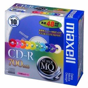 MAXELL CDR700S.MIX1P10S データ用CD-R 700MB 48倍速 10色カラーMIX 5mmスリムケース