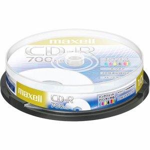 MAXELL CDR700S.PNW.10SP データ用CD-R 700MB 48倍速 ホワイトプリンタブル スピンドルケース