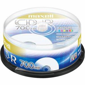MAXELL CDR700S.PNW.25SP データ用CD-R 700MB 48倍速 ホワイトプリンタブル スピンドルケース