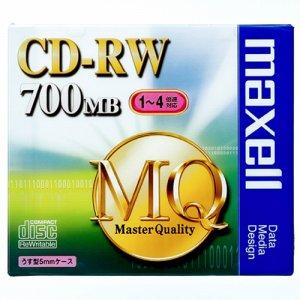 MAXELL CDRW80MQ.S1P データ用CD-RW 700MB 4倍速 ブランドシルバー 5mmスリムケース