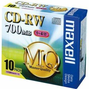 MAXELL CDRW80MQ.S1P10S データ用CD-RW 700MB 4倍速 ブランドシルバー 5mmスリムケース