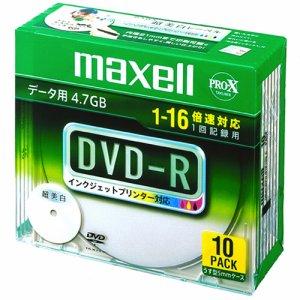 MAXELL DR47WPD.S1P10S A データ用DVD-R 4.7GB ワイドプリンタブル 5mmスリムケース