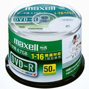 MAXELL DR47WPD.50SP A データ用DVD-R 4.7GB 16倍速 ワイドプリンタブル スピンドルケース
