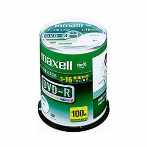 MAXELL DR47WPD.100SP A データ用DVD-R 4.7GB 1-16倍速 ホワイトワイドプリンタブル スピンドルケース
