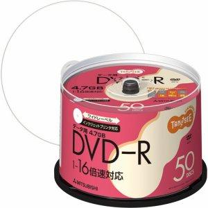 三菱ケミカル DHR47JP50T データ用DVD-R 4.7GB 1-16倍速 ホワイトワイドプリンタブル スピンドルケース