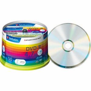 Verbatim DHR47J50V1 データ用DVD-R 4.7GB 16倍速 ブランドシルバー スピンドルケース