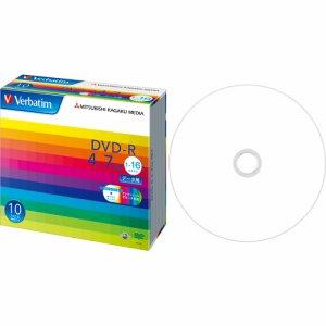 Verbatim DHR47JP10V1 データ用DVD-R 4.7GB ワイドプリンタブル 5mmスリムケース