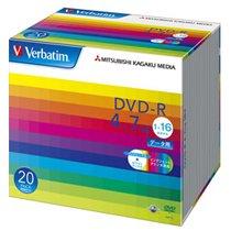 Verbatim DHR47JP20V1 データ用DVD-R 4.7GB ワイドプリンタブル 5mmスリムケース