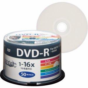 HIDISC HDDR47JNP50 データ用DVD-R 4.7GB 1-16倍速 ホワイトワイドプリンタブル スピンドルケース